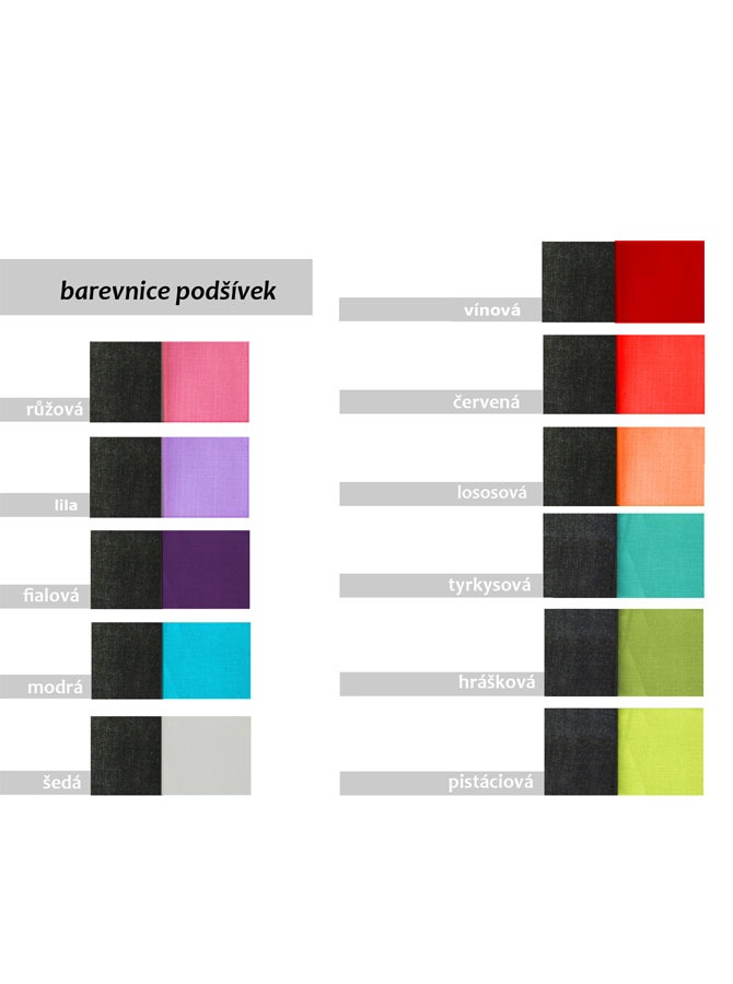 barevnice podšívek