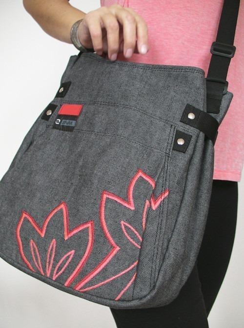 Grey Red Leaf